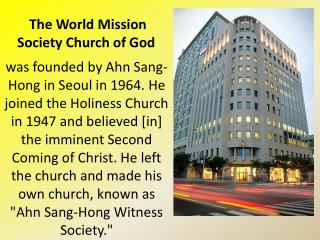 The World Mission Society Church of God