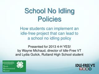 School No Idling Policies
