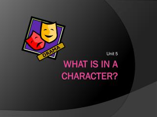 What is in a Character?