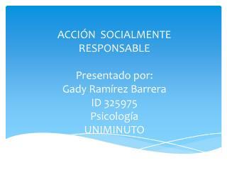 Acción socialmente responsable
