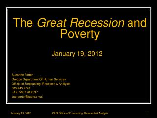 The  Great Recession  and Poverty
