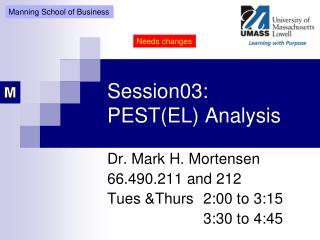 Session03: PEST(EL) Analysis