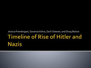 Timeline of Rise of Hitler and  N azis