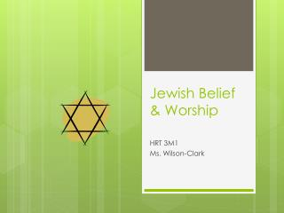 Jewish Belief & Worship