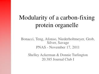 Modularity of a carbon-fixing protein organelle