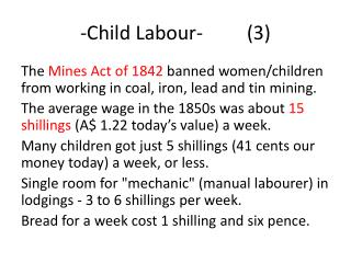 -Child Labour-         (3)