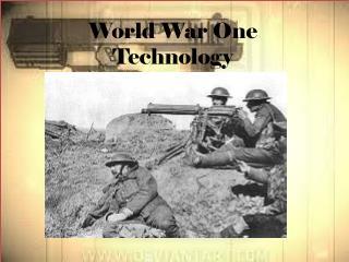 World War One Technology