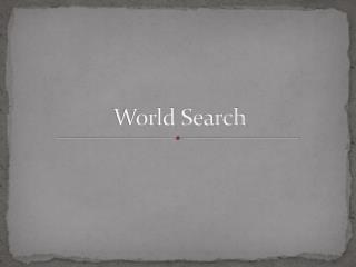 World Search