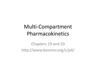Multi-Compartment Pharmacokinetics