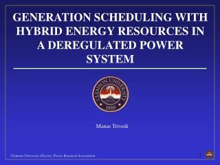 Hybrid Energy Resources