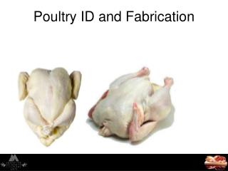 Poultry ID and Fabrication