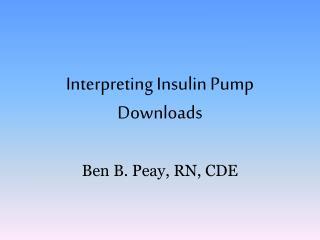 Interpreting Insulin Pump Downloads