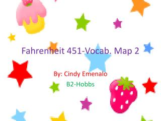 Fahrenheit 451-Vocab. Map 2