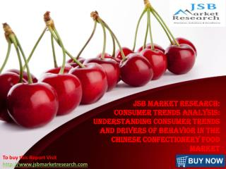 JSB Market Research: Chinese Confectionery Food Market