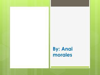 By:  Anai morales