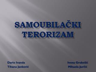 Samoubilački  terorizam