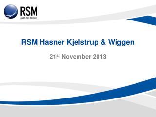 RSM Hasner  Kjelstrup  &  Wiggen