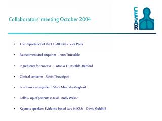 Collaborators  meeting October 2004