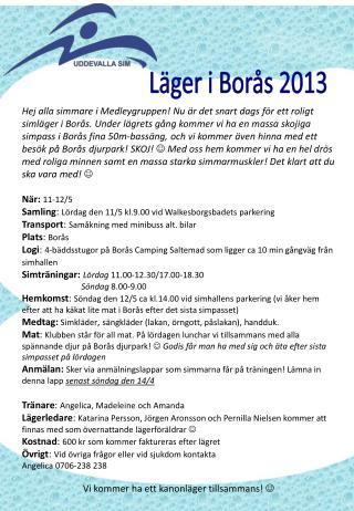 Läger i Borås 2013