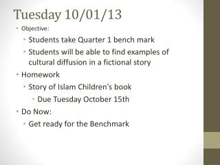 Tuesday 10/01/ 13