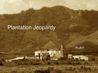 Plantation Jeopardy