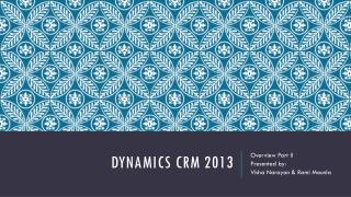 Dynamics CRM 2013