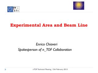 Experimental  Area and  Beam Line