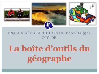 La boîte d'outils du géographe