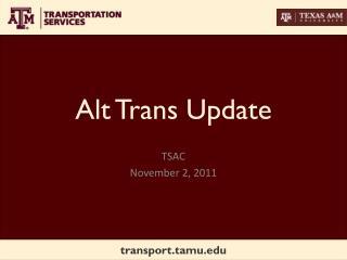 Alt Trans Update