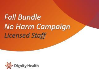 Fall Bundle  No Harm Campaign  Licensed Staff