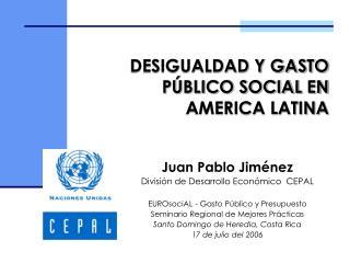 DESIGUALDAD Y GASTO P BLICO SOCIAL EN AMERICA LATINA