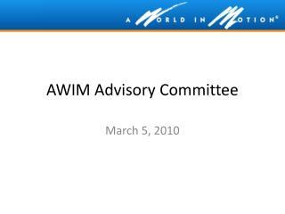 AWIM Advisory Committee
