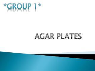 AGAR PLATES