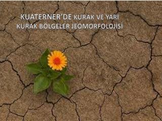KUATERNER'DE  KURAK VE YARI KURAK BÖLGELER JEOMORFOLOJİSİ