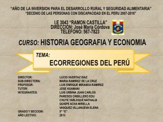 """""""AÑO DE LA INVERSION PARA EL DESARROLLO RURAL Y SEGURIDAD ALIMENTARIA"""""""