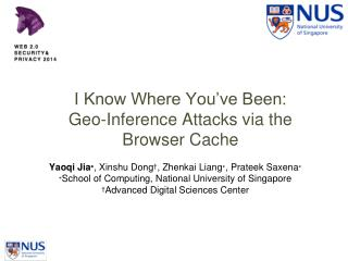 I Know Where You've Been:  Geo-Inference Attacks via the Browser Cache