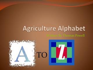 Agriculture Alphabet