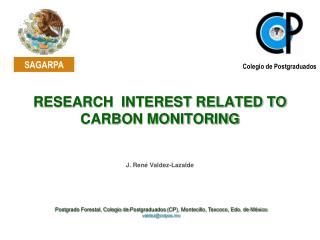 RESEARCH  INTEREST RELATED TO CARBON MONITORING