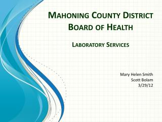 Mahoning County District Board of Health
