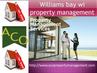 Williams Bay WI Property Management