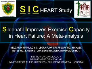 S ildenafil I mproves Exercise  C apacity in Heart Failure: A Meta-analysis