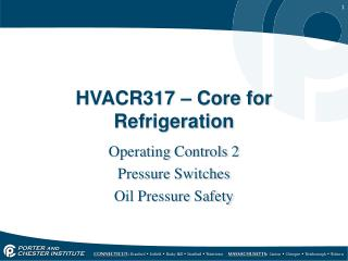 HVACR317 – Core for Refrigeration