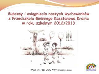 XXX Sesja Rady Gminy Przytoczna 20.06.2013r.