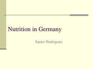 Nutrition in Germany
