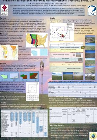 Community Classification of the Pawnee National Grasslands,  Shortgrass  Steppe, USA