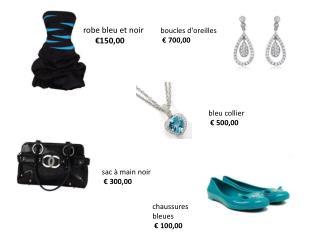 robe bleu et noir €150,00