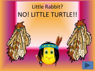 Little Rabbit?   NO! LITTLE TURTLE!!