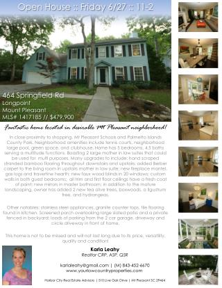 Open House :: Friday 6/27 :: 11-2