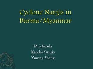 Cyclone  Nargis  in  Burma/Myanmar