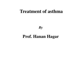 Treatment of asthma